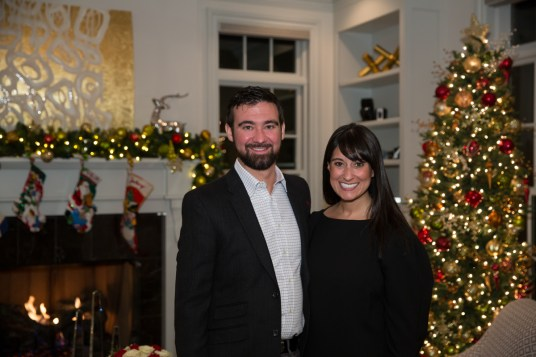 corporate holiday party, corporate event, denver holiday party photographer, event holiday photographer, couple portrait at holiday party