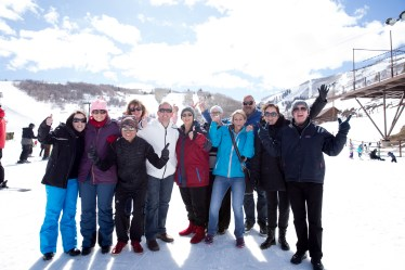 group photo on park city mountain for incentive trip