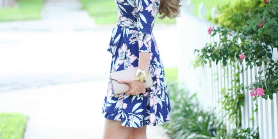 kinsey walsh in yumi kim jersey wrap dress