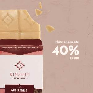 40% Cacao, white chocolate