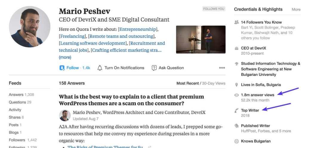 Mario Peshev, él logró conseguir el estado de mejor escritor en la categoría de WordPress