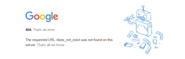google 404 http status codes