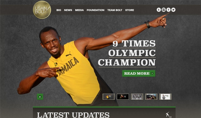 usain bolt wordpress sites