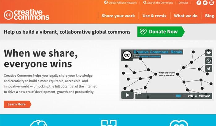 creative common wordpress sites