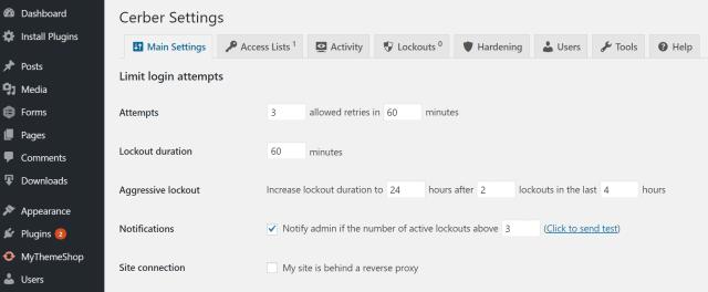 limit login attempts wordpress