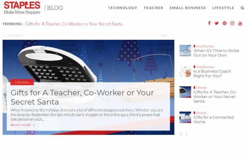 Staples Blog