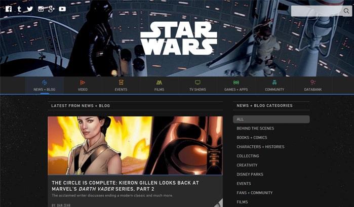 star wars wordpress sites
