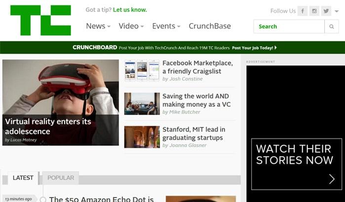 techcrunch wordress sites