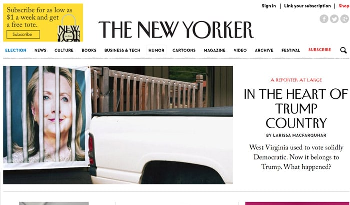 the new yorker wordpress sites