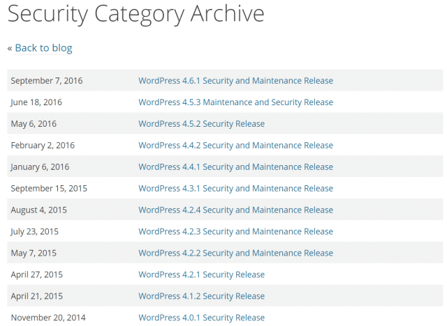 wordpress security archive