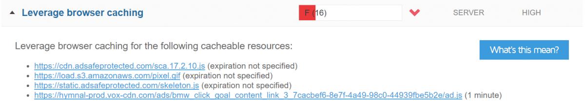 gtmetrix leverage browser caching