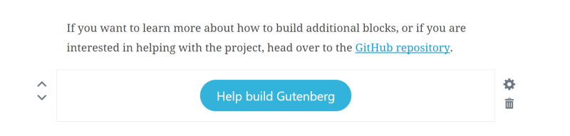 Gutenberg button