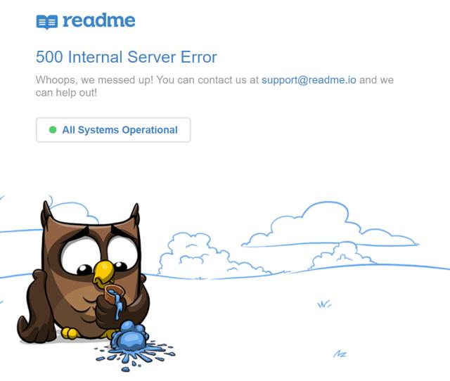 Readme 500 Internal Server Error