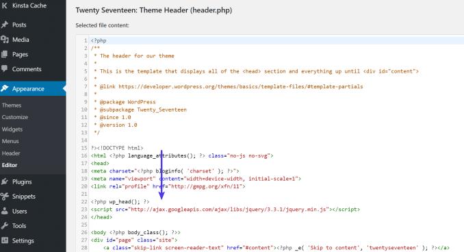HTTP external script