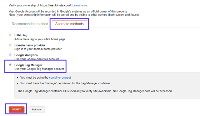 Google Tag Manager method