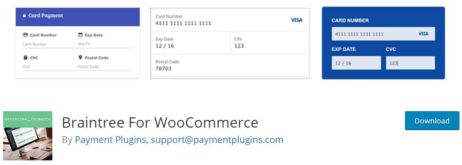 Plugin Braintree para WooCommerce