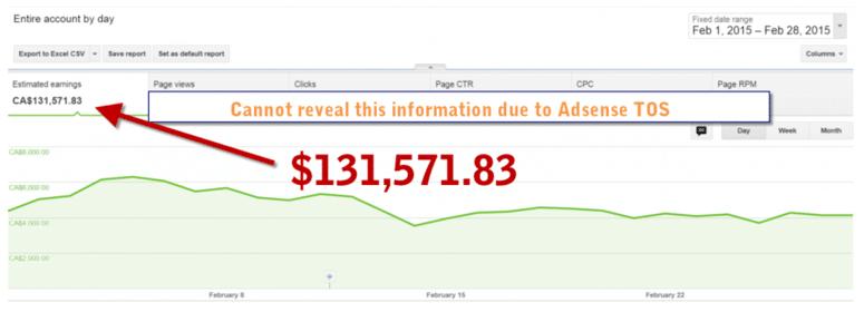 AdSense earnings