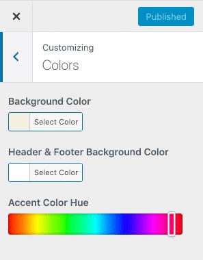 Customizing colors in Twenty Twenty