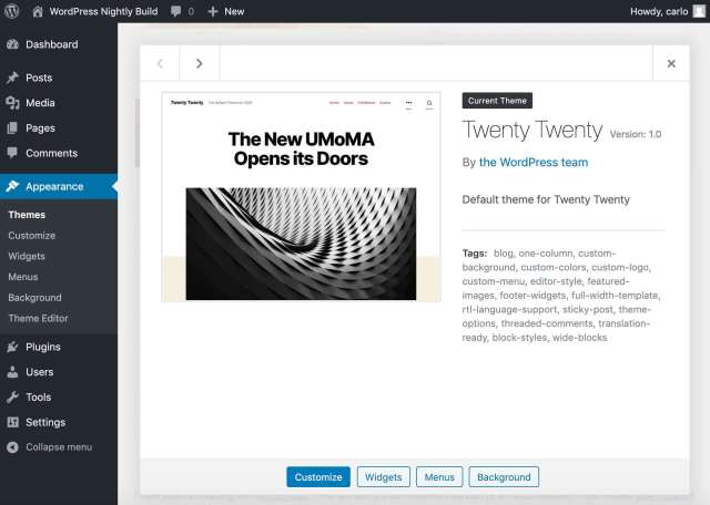 Twenty Twenty WordPress theme
