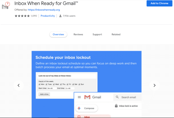 inbox when ready for gmail
