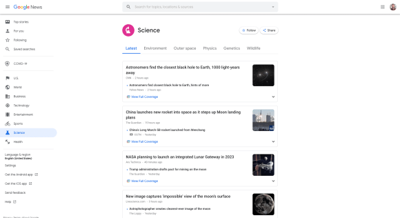 google news example