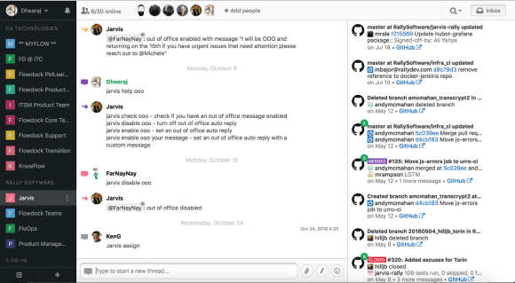ca flowdock interface