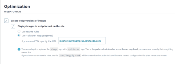 How to enable WordPress WebP images in Imagify