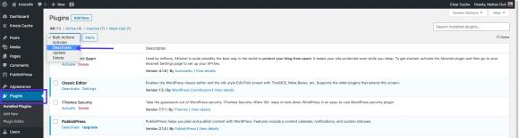 WSOD: Deactivate all WordPress Plugins setting