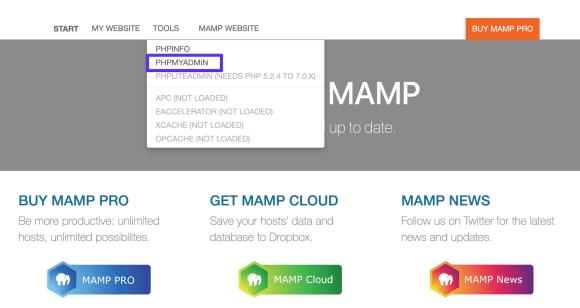 webstart tools phpmyadmin