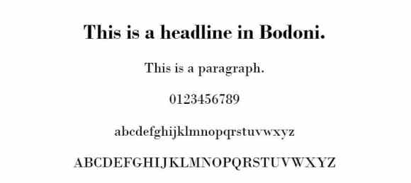 bodoni font