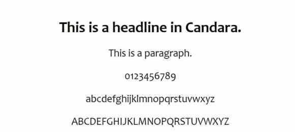 candara font