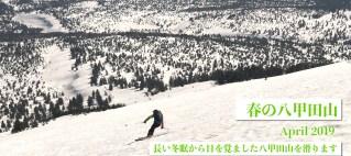 八甲田山 春 バックカントリー ツアー