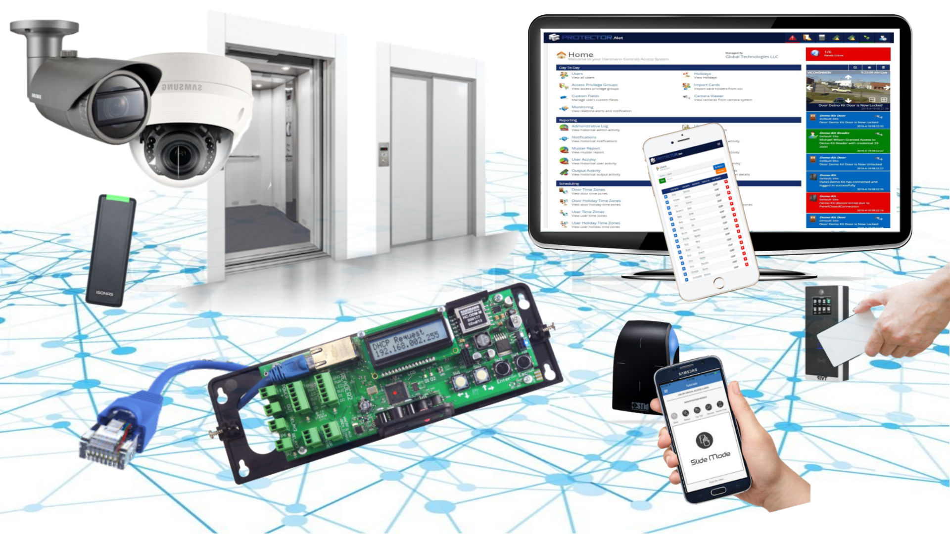 hight resolution of door access control for the enterprise