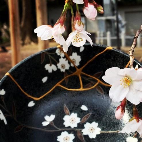 桜丼と花1