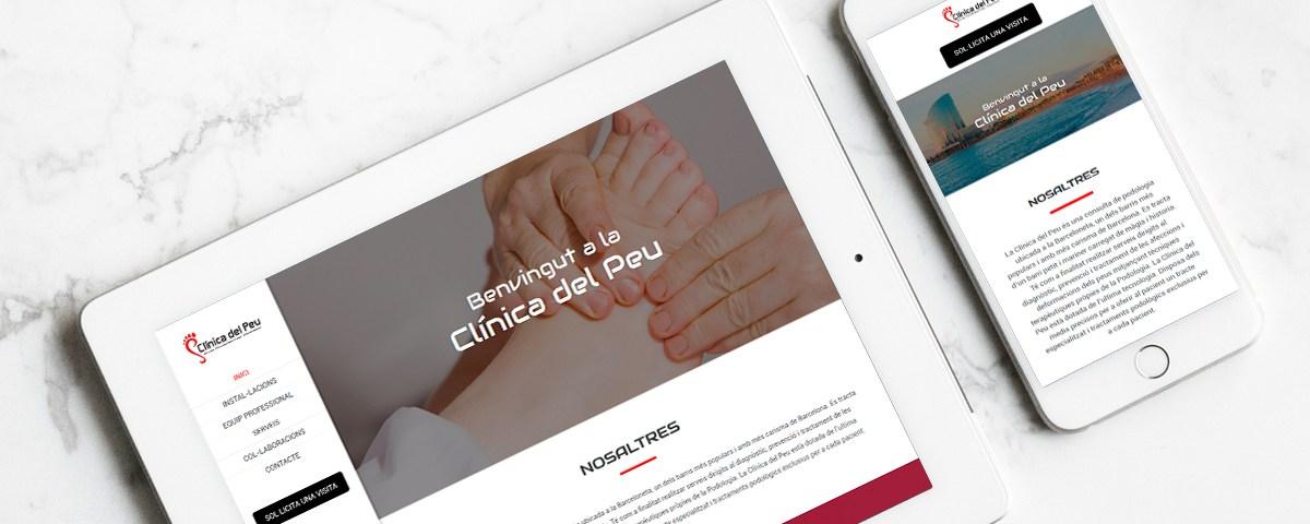 Diseño Web - Clínica del Peu