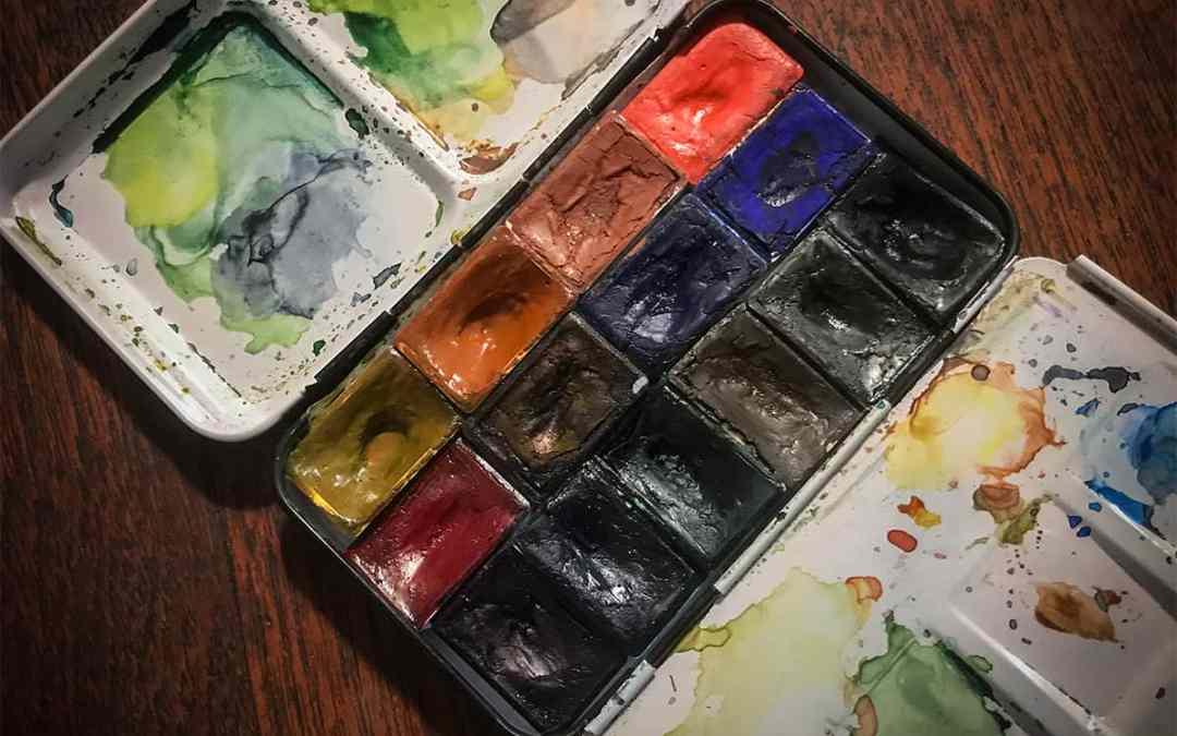 Akvarell festékszínek kiválasztása
