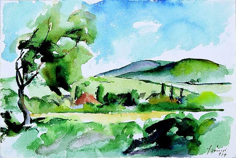 Az akvarell festészet története