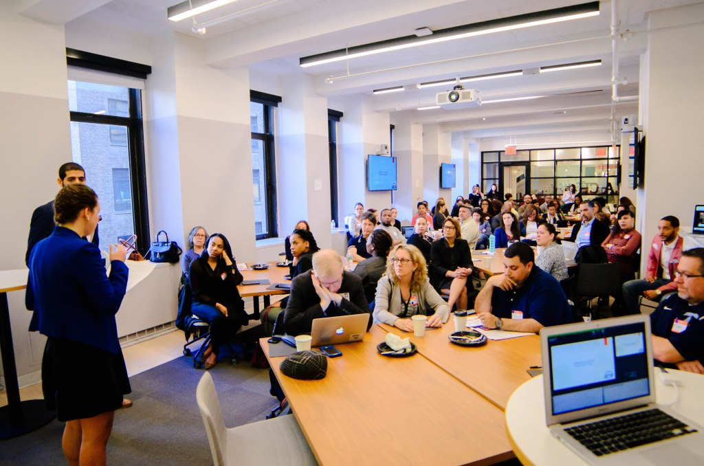 The audience at Kinvolved's Summer Summit NYC