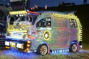 【光る街道美学】軽トラのアートトラック ライトアップ ナイトシーンPortfolioデコトラ ナイトシーン