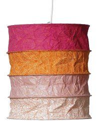 Lokta Paper Lampshade - India pink orange - www.kioase.de