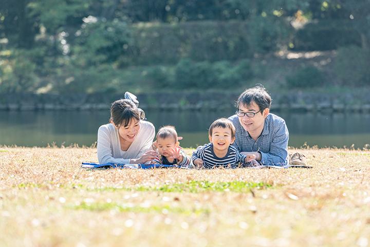 家族写真at北の丸公園