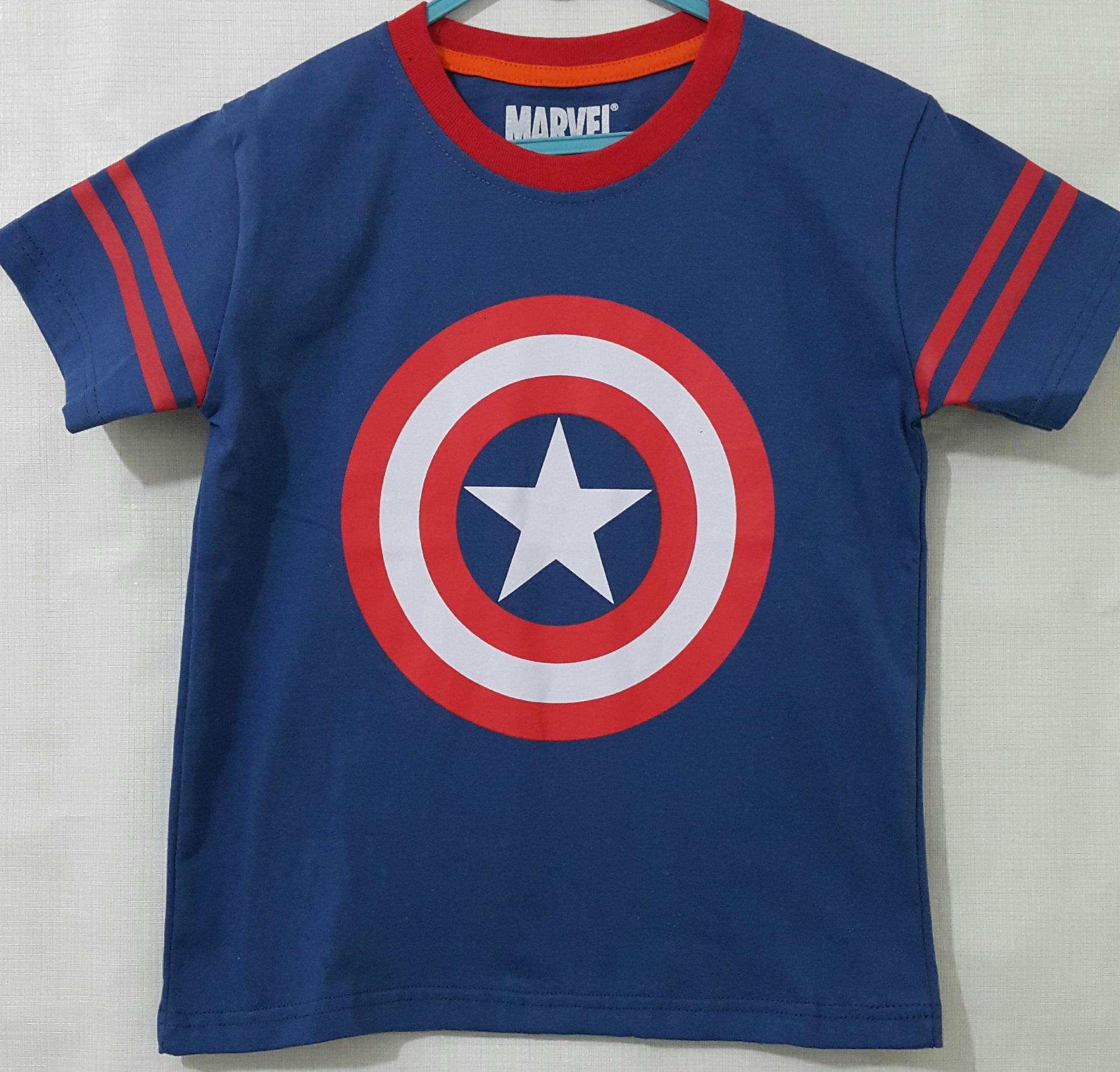 kaos anak captain america logo marvel16  GrosirEceran
