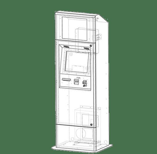 KIOSK Outdoor Element Model: Durable, Outdoor Kiosk Machine