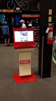 Sports Authority in back