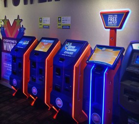 dave and busters interactive kiosk