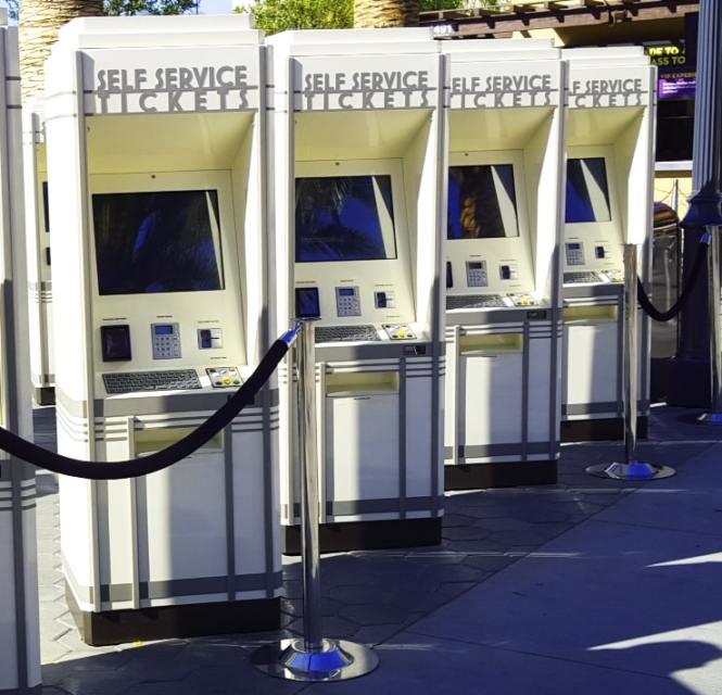 ticketing kiosk by Olea