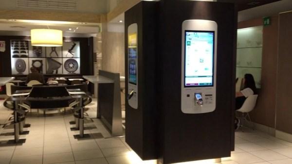 McDonalds Order kiosk