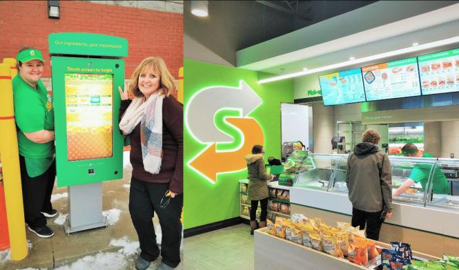 Subway drive thru kiosk