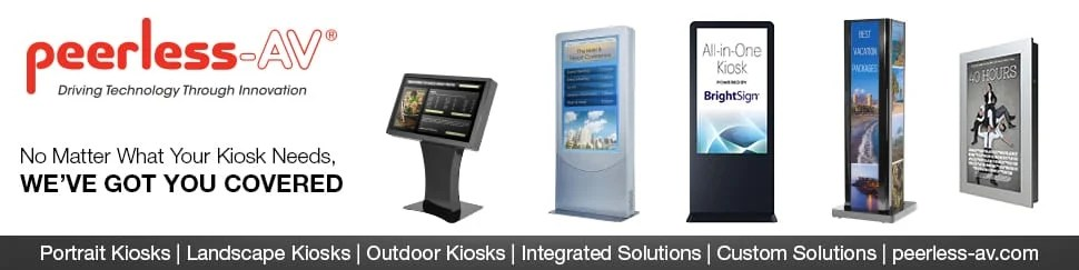 Peerless-AV kiosks