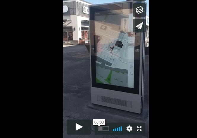 wayfinder kiosk outdoors